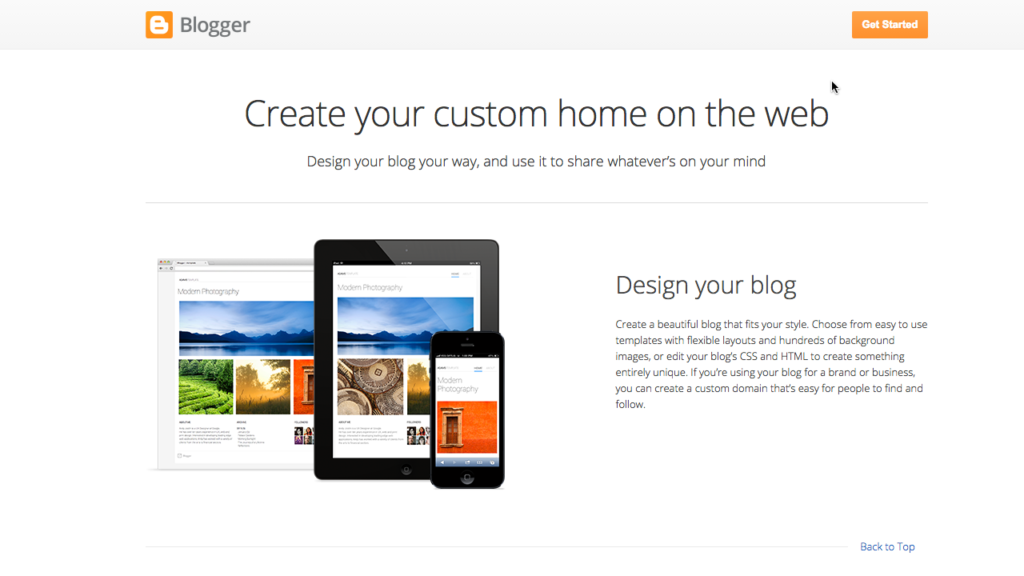 blogger homepage